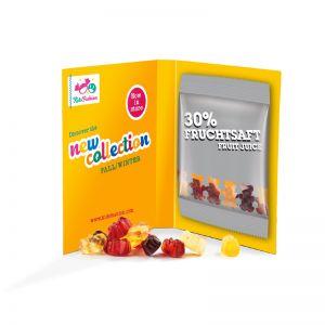 Werbekarte Trolli Fruchtgummi Minitüte mit Logodruck