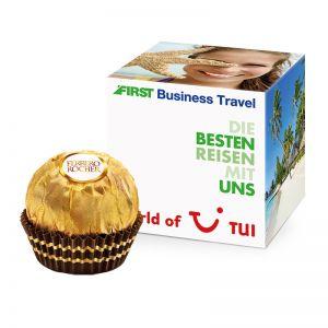Werbewürfel mit Ferrero Rocher und Logodruck