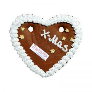 X-MAS Lebkuchenherz gross mit essbarer Werbeanbringung