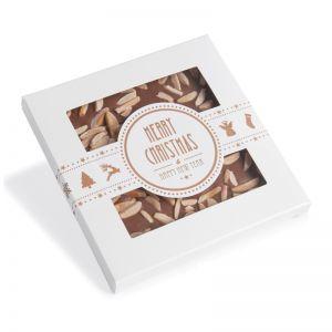 X-Mas Sichtfenster-Kartonage mit Schokolade