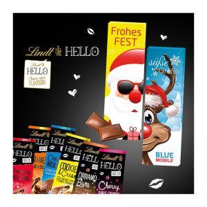 Xmas Schokolade von Lindt HELLO in Werbekartonage