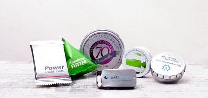 Give Aways aus Süßwaren zur süßen Werbung. Süßwaren mit Logo bedrucken und werben