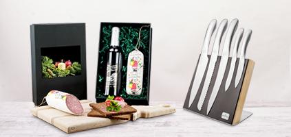 Edle Präsente als Kundengeschenk mit Wein und Genuss als Standard oder mit Logo bedrucken