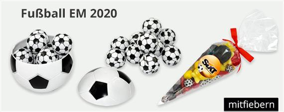 Werbeartikel rund um die Fußball WM 2018. Fußball-Süßwaren mit Logo bedrucken und werben