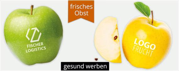 Obst Werbemittel aus Süßwaren zur süßen Werbung. Logo Obst Werbemittel mit schneller Lieferung. Obst mit Logo bedrucken und werben