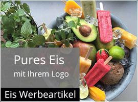 Werbeeis mit Logodruck als Werbemittel für jedes Event