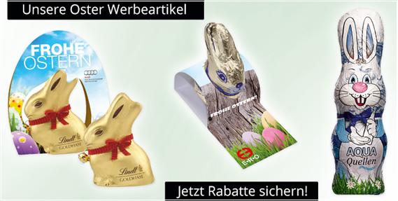 Werbeartikel zu Ostern mit Logodruck als Werbemittel für jedes Event