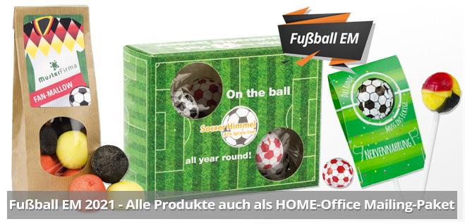 Fußball EM Werbeartikel mit Logodruck als Werbemittel für die Fußball EM
