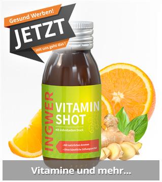 Gesunde Werbemittel mit Vitaminen. Süße Werbeartikel mit Logo bedrucken und werben