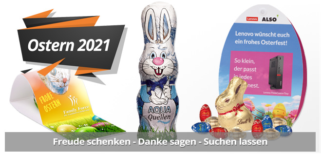 Oster Werbeartikel mit Logodruck als Werbemittel für Ostern