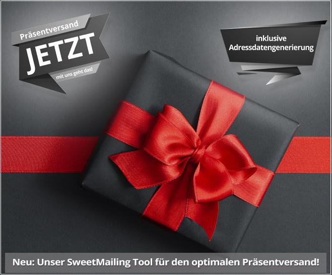 Weihnachten 2021 Präsentversand mit dem SweetMailing Tool inkl. Adressdatengenerierung