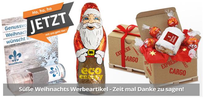 Weihnachts Werbeartikel mit Logodruck als Werbemittel für Weihnachten