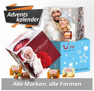Adventskalender mit Logodruck als Werbemittel für die Adventszeit